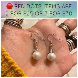 🔴 Sale ! Pearl earrings stainless steel post
